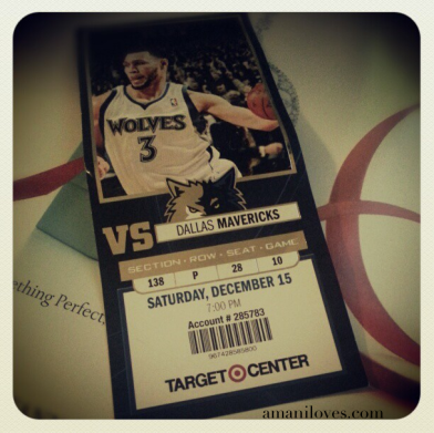 Timberwolves Ticket